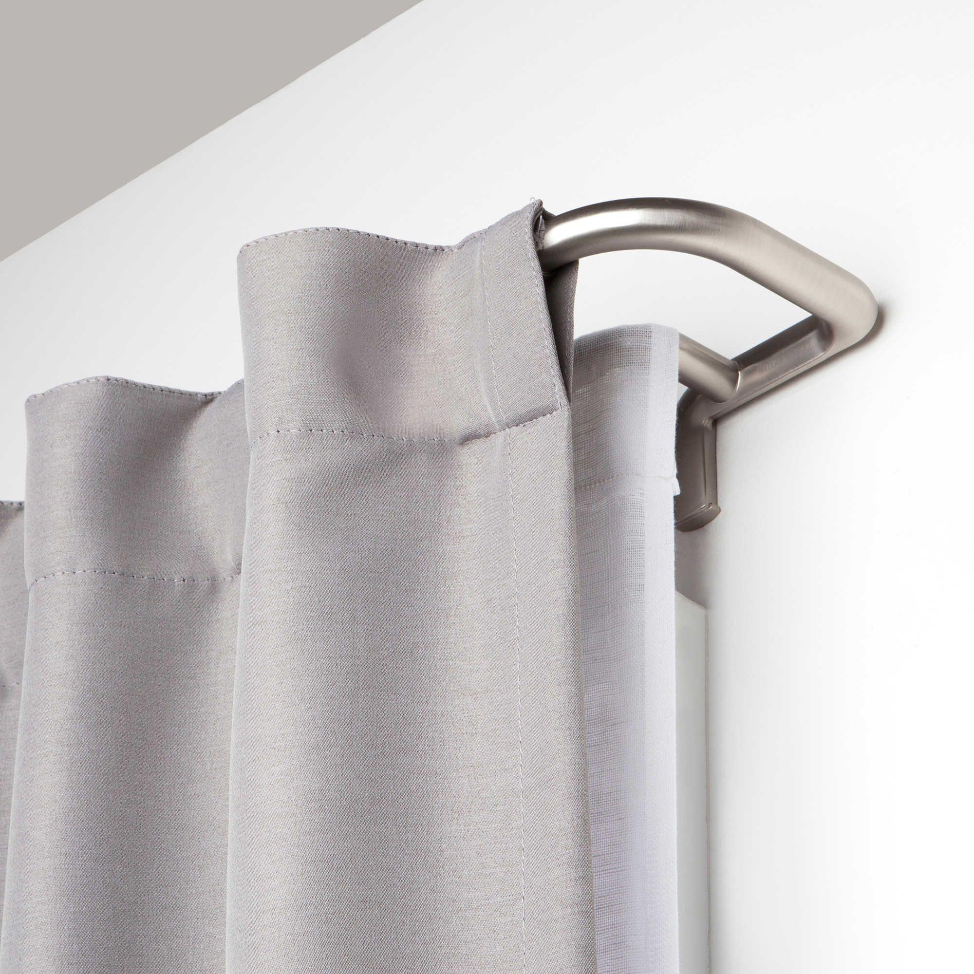 Umbra Twilight Adjustable Room Darkening Double Curtain Rod
