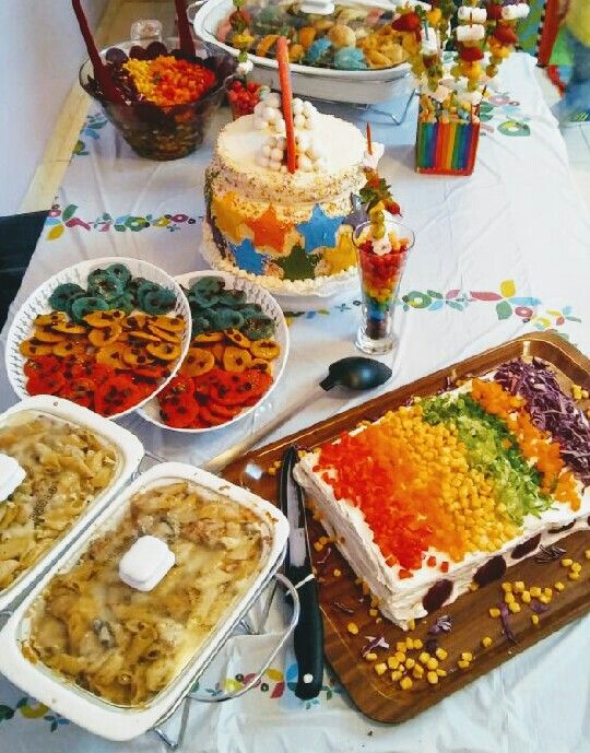 Colorful Cookies Creamy Pasta Salty Cake Mini Burgers Colorful