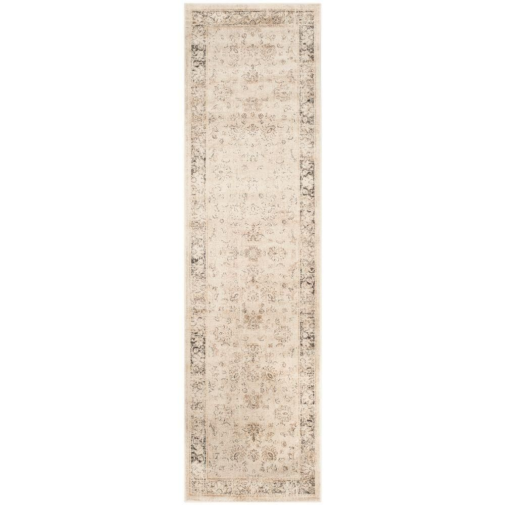 Hallway carpet runners sold by the foot  Vintage Stone Grey  ft  in x  ft Rug Runner  Vintage and