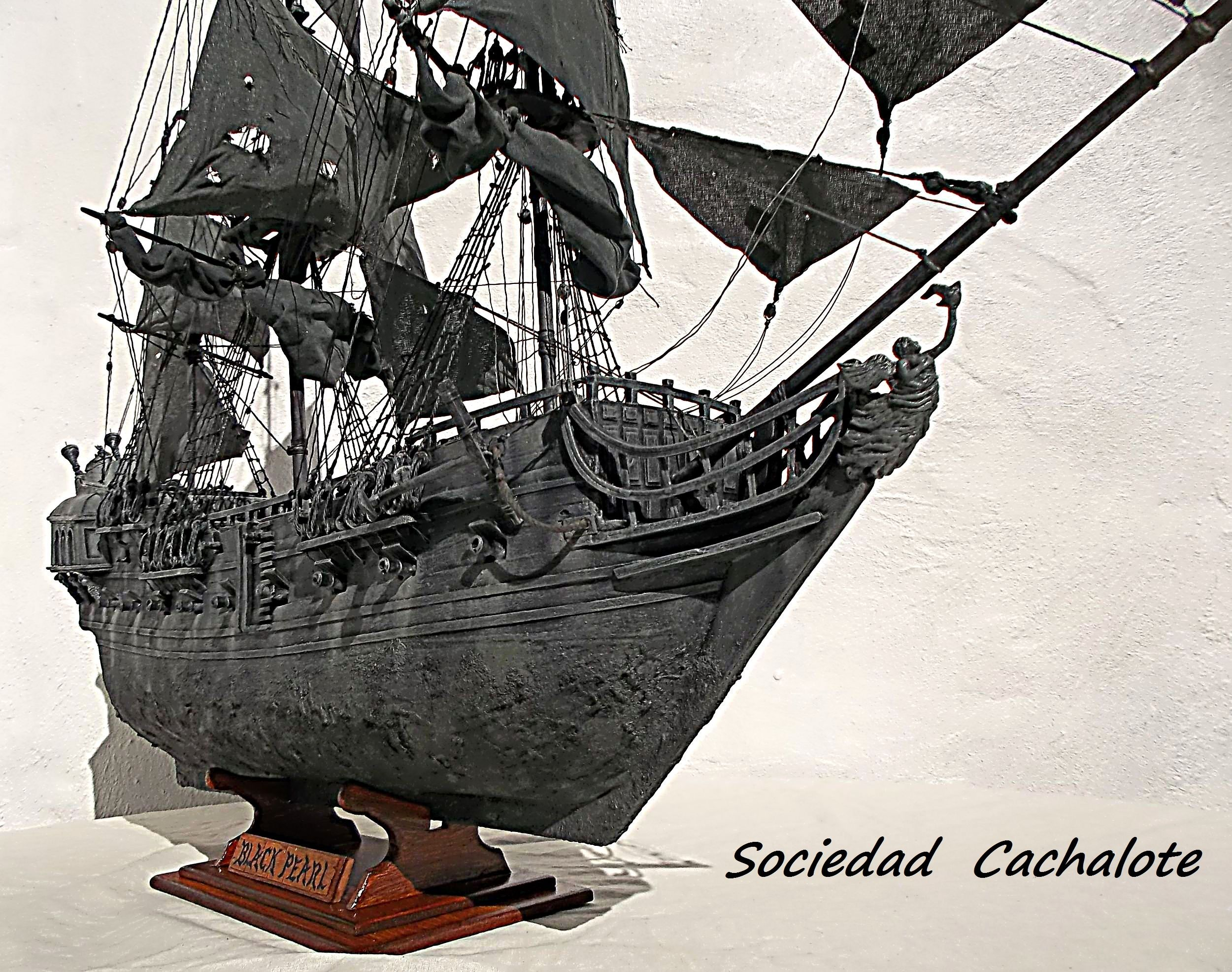 Perla Negra Sociedad Cachalote Boat Sailing Ships Black Pearl