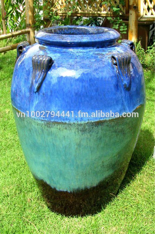 [wholesale] Tall Outdoor Glazed Jars   Tall Temple Jar   Green Glazed  Planter U0026 Pot   Vietnam Pottery Manufacturer U0026 Supplier   Buy Clay Pots  Terracotta ...