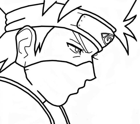 Download Or Print This Amazing Coloring Page Kakashi Hatake From Naruto Coloring Page Free Printa In 2020 Cartoon Coloring Pages Coloring Pages Chibi Coloring Pages