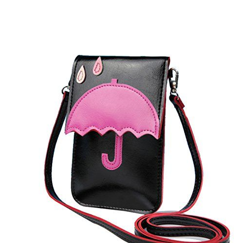 1566a59707ee Micom Cute Cat Pu Leather Cell Phone Bag Small Crossbody Purse with Screen  Window for Women