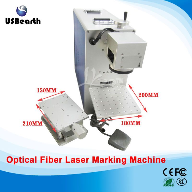 Newest Optical Fiber Laser Marking Machine 10w For Metal Wood Pvc Plastic 220v 110v Laser Marking Fiber Optic Machine