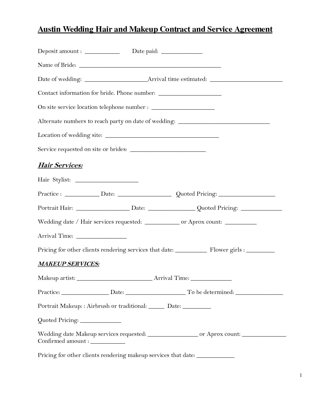 bridalhaircotract | austin wedding hair and makeup contract