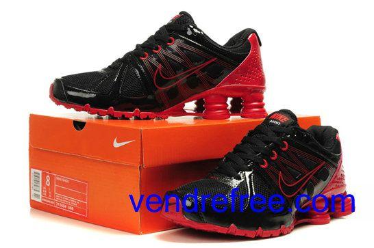 reputable site 9b908 cc324 Vendre pas cher Homme Nike Shox R4 Chaussures (couleur sole,vamp et logo- rouge,noir interieur-noir) en ligne en France.