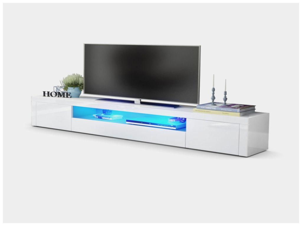 Frais Meuble Tv Blanc Laqué Avec Led Meuble Tv Blanc Laqué Avec Led
