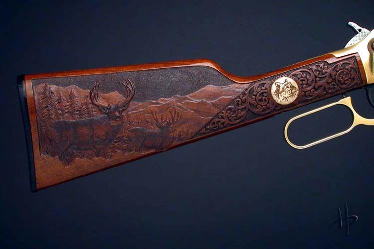 Gunstock relief carving custom