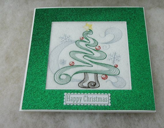 Pin by Pincushion Machine Embroidered Greeting Cards on Etsy cards