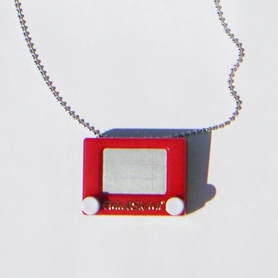 You Are Sooo Fun Etch A Sketch Necklace Etch A Sketch Geek Gadgets Gold Jewellery Design