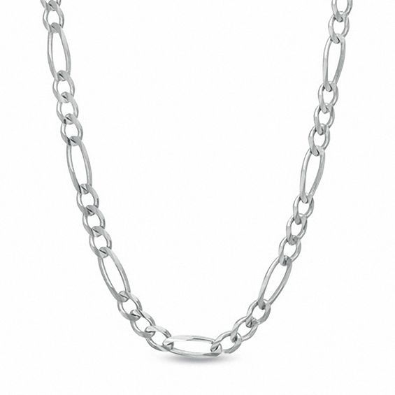 7ad9e4ea1 Men's 7.0mm Figaro Chain Necklace in Sterling Silver - 22