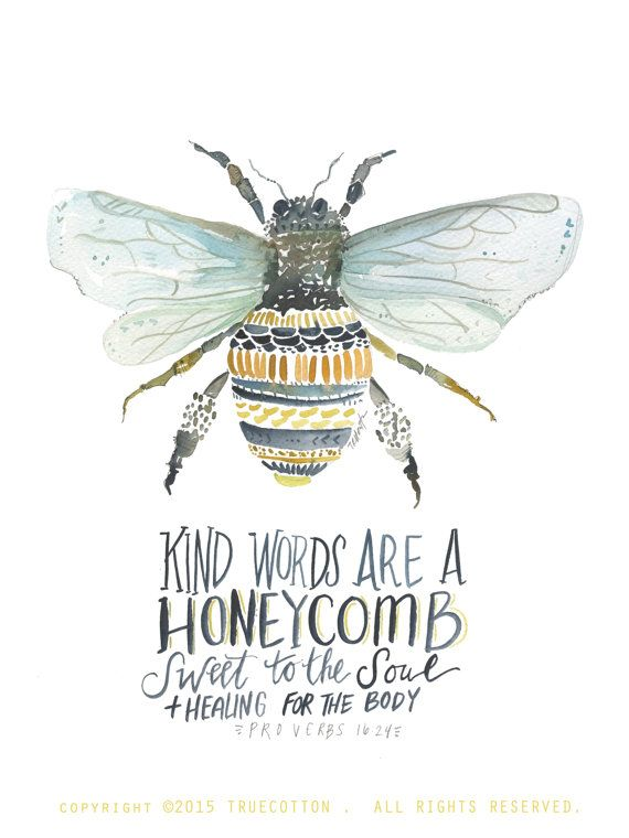 Honeybee Print Truth Pinterest Bible Verses Quotes And Words