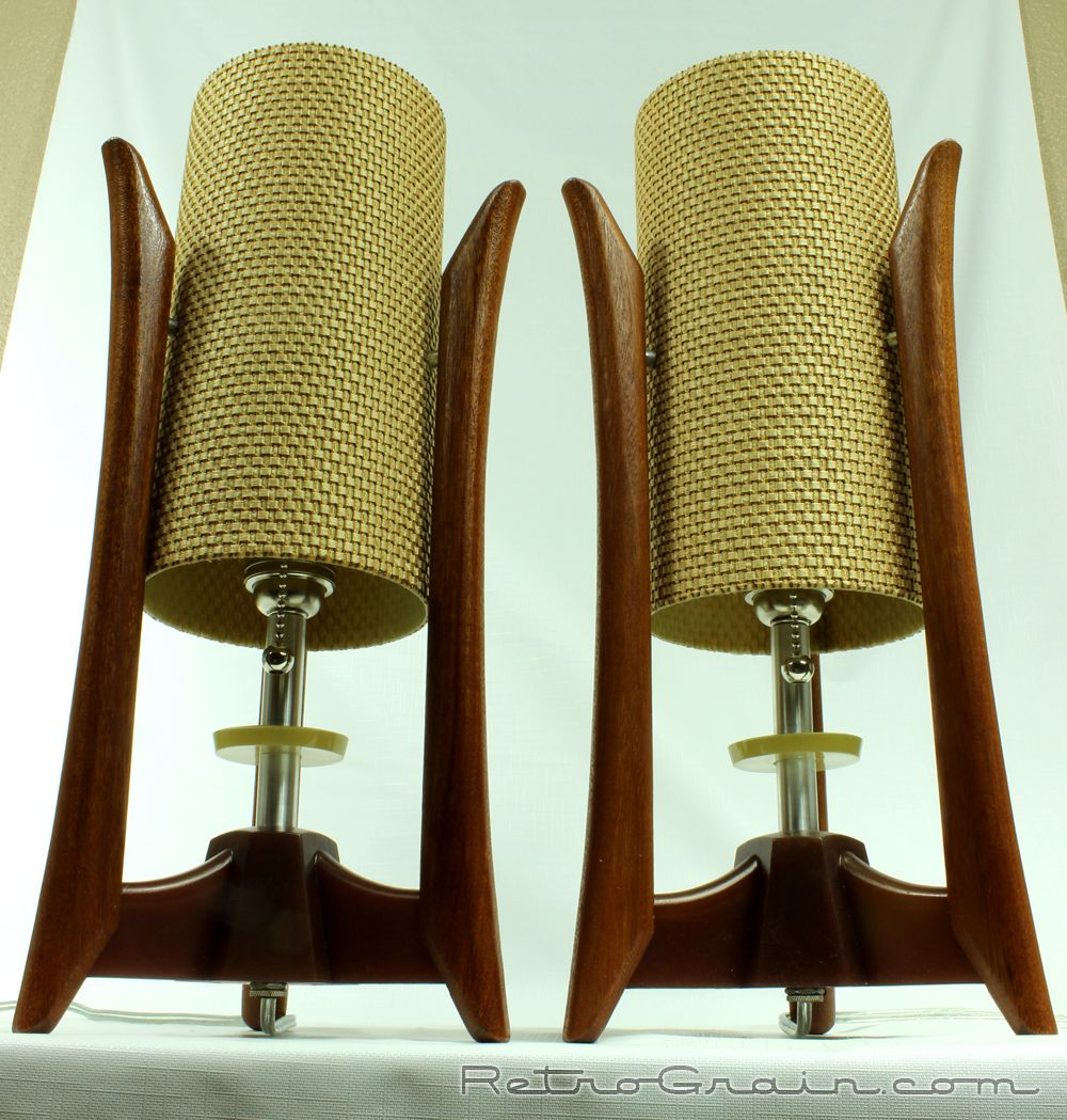 Pair Of Mid Century Modern / Danish Modern Style Table Lamps By  RetroGrain.com