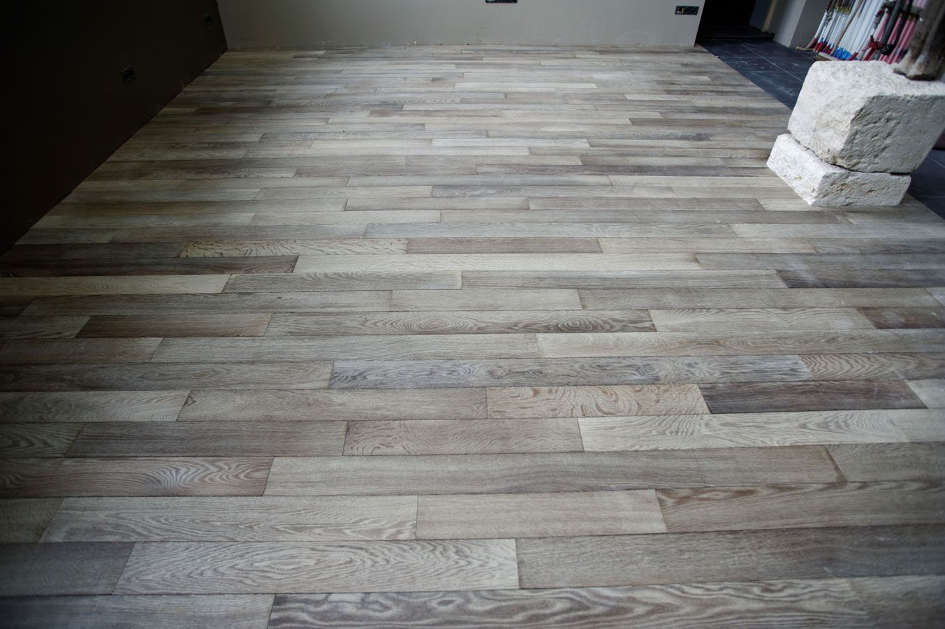gray wood flooring Solid oak parquet flooring gray