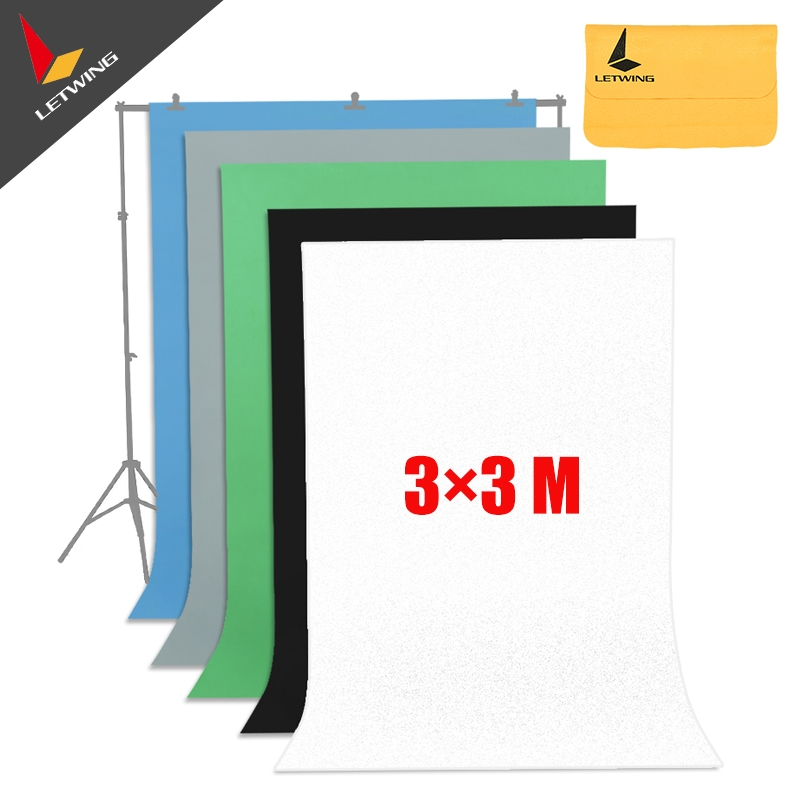 72.59$  Watch now - http://ali2v0.worldwells.pw/go.php?t=32564295245 - High Quality White Non-woven Fabric 3*3 M 10x10ft Background Backdrop for Studio Photo lighting 72.59$