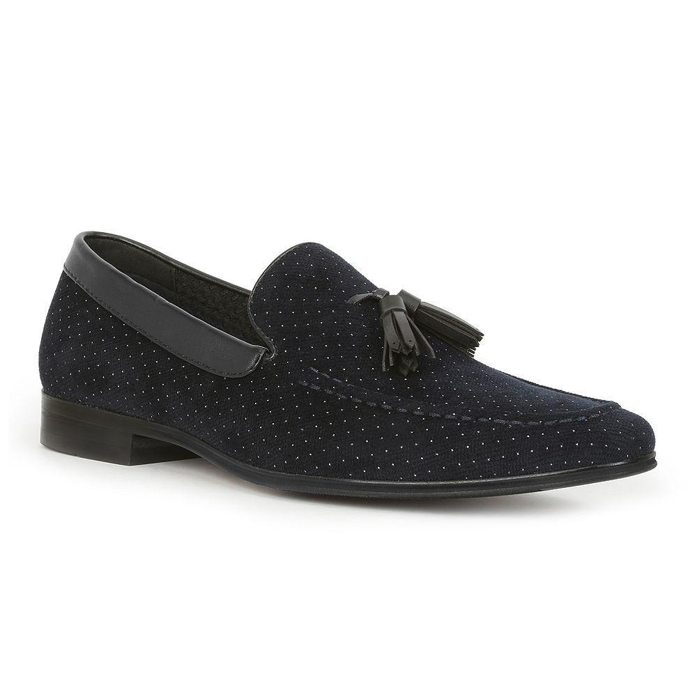 Giorgio Brutini Nile Men's Tassel Loafers, Blue (Navy)