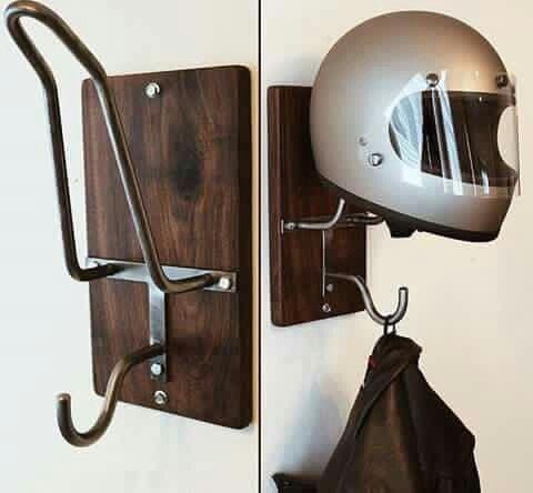Motorcycle Helmet HELMET HANGER WHITE Jacket Display /& Storage Rack.,US Made