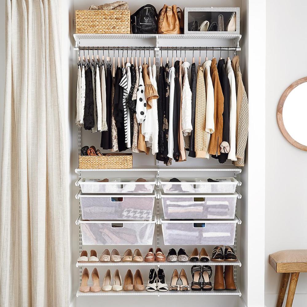 Elfa Classic 27 White Reach-In Closet  No closet solutions
