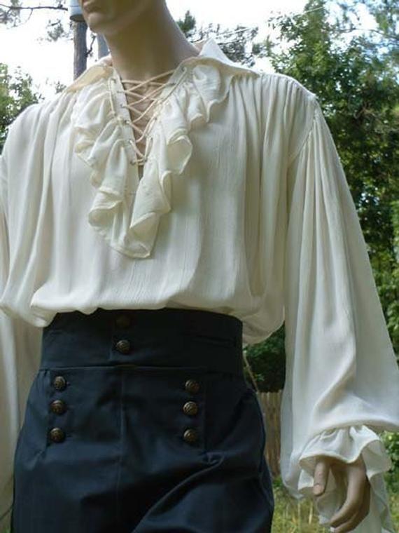 B018-58A Poet Shirt Musketeer Shirt Renaissance Pi