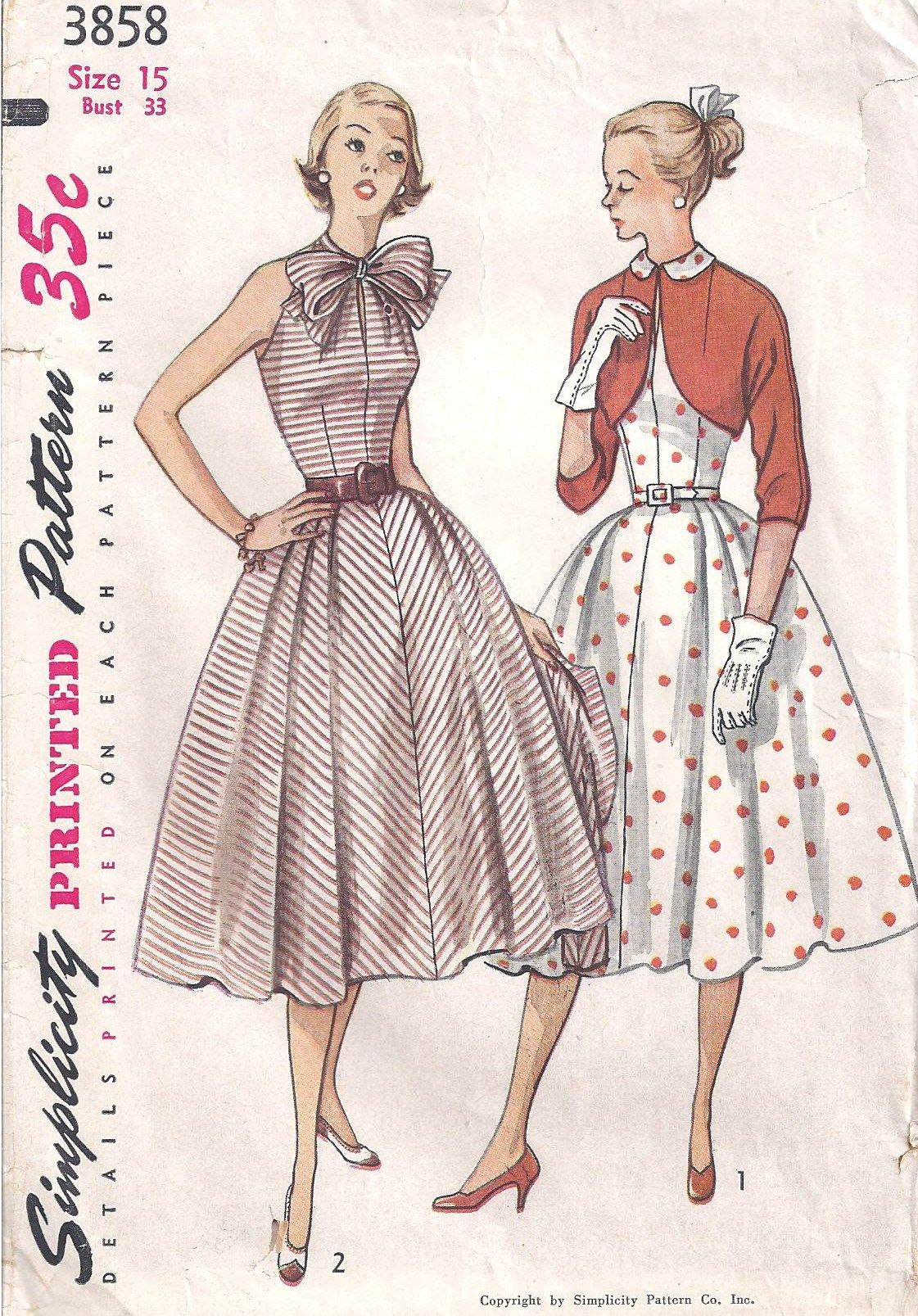 simplicity vintage dress pattern sewing patterns | sewing ...