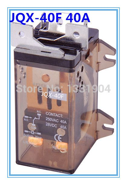 1 PC JQX-40F 2Z 40A DPDT DC AC  12V/24V/110V/220V Coil Electromagnetic Power Relay, large power relay. Silver Alloy Contact #Affiliate
