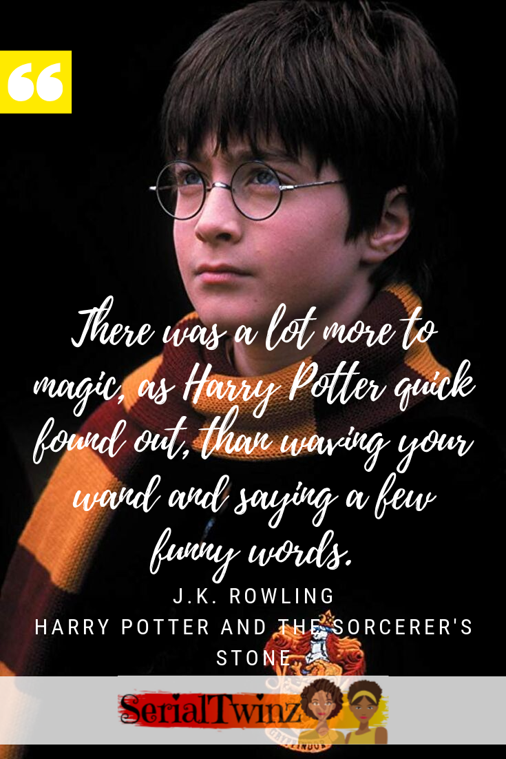 Book Quote J K Rowling Harry Potter And The Sorcerer S Stone 1997 Rowling Harry Potter Harry Potter Tv Show Quotes