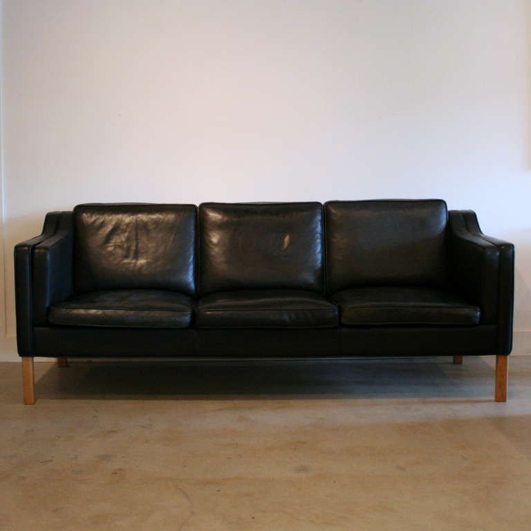 Vintage Black Leather Sofa | From A Unique Collection Of Antique And Modern  Sofas At Http://www.1stdibs.com/furniture/seating/sofas/