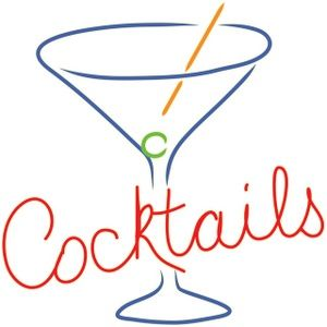 this is a clip art illustration of a retro cocktails sign in the rh pinterest com cocktail party clipart free cocktail clipart free download