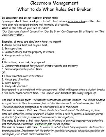 When Rules Get Broken Worksheets | Things for kids groups