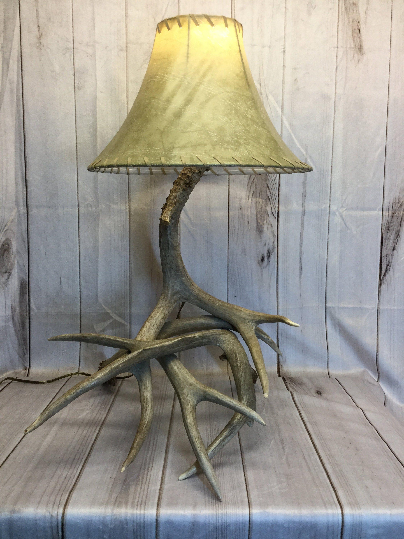 Deer Antler Lamp Made from Real Antlers | Deer antler ...