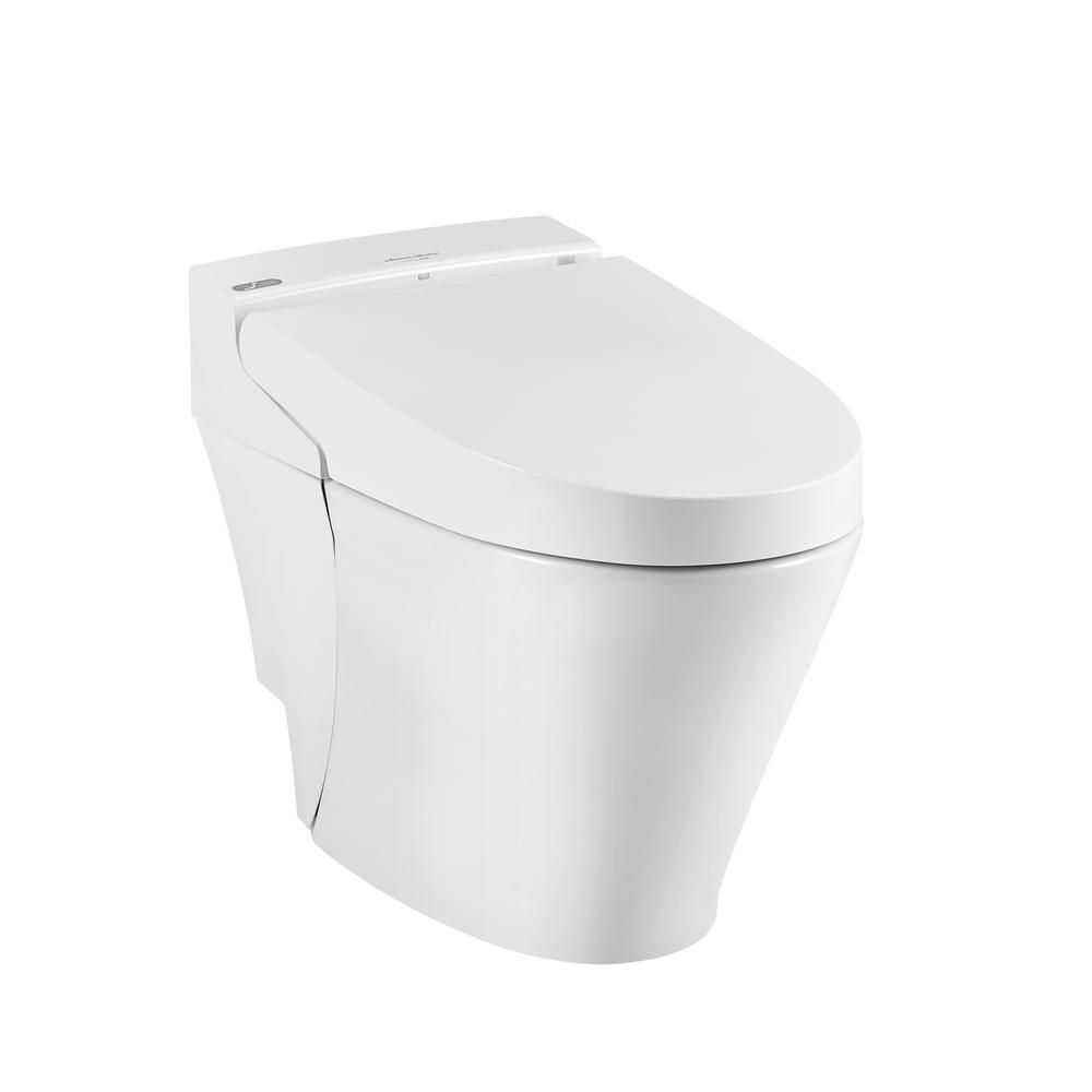 American Standard Advanced Clean 100 Spalet 12 In Rough In 1 Piece 0 92 1 32 Gpf Dual Flush Elongated Toilet In White Seat Included Alabaster White American Standard Toilet Bidet Toilet Seat