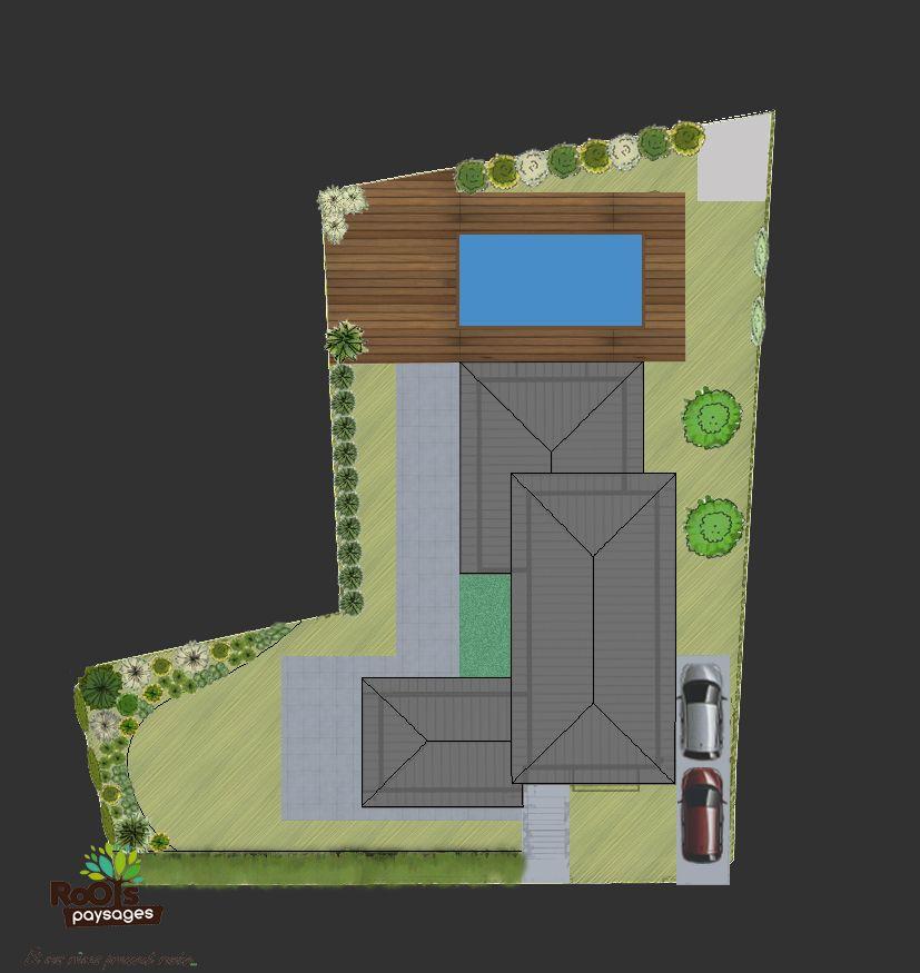 Plan du0027#aménagement du0027un #jardin avec #aménagement autour du0027une