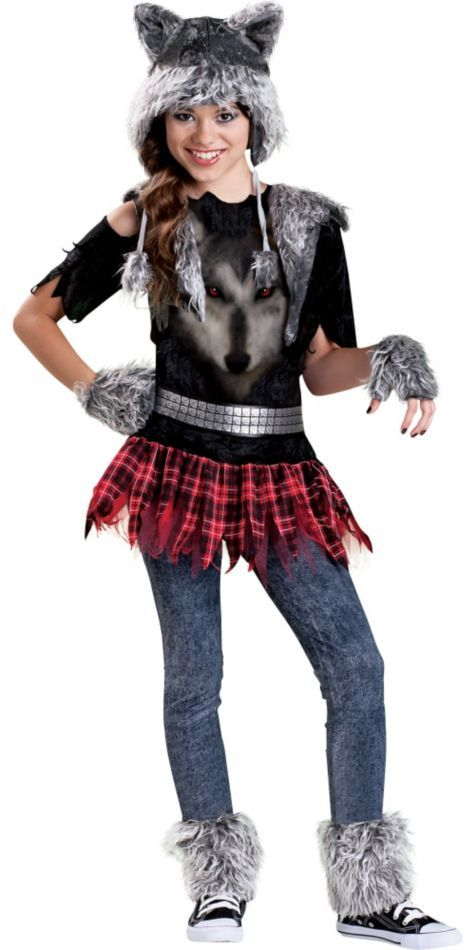 Girls Werewolf Costume - Party City  sc 1 st  Pinterest & Girls Werewolf Costume - Party City | My Nieces | Pinterest | Girl ...