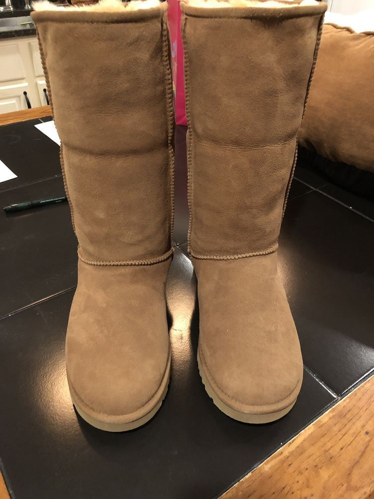 eBay link) Ugg Classic Tall Chestnut Boots Size 8 #fashion
