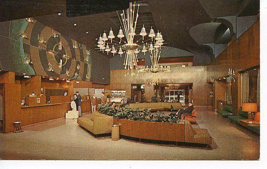 Interior Lobby Cosmopolitian Western Hotel Denver CO 1960s
