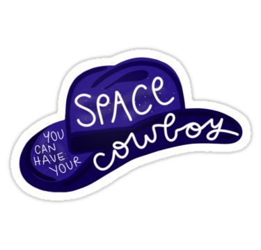 'Space Cowboy' Sticker by art-by-amy