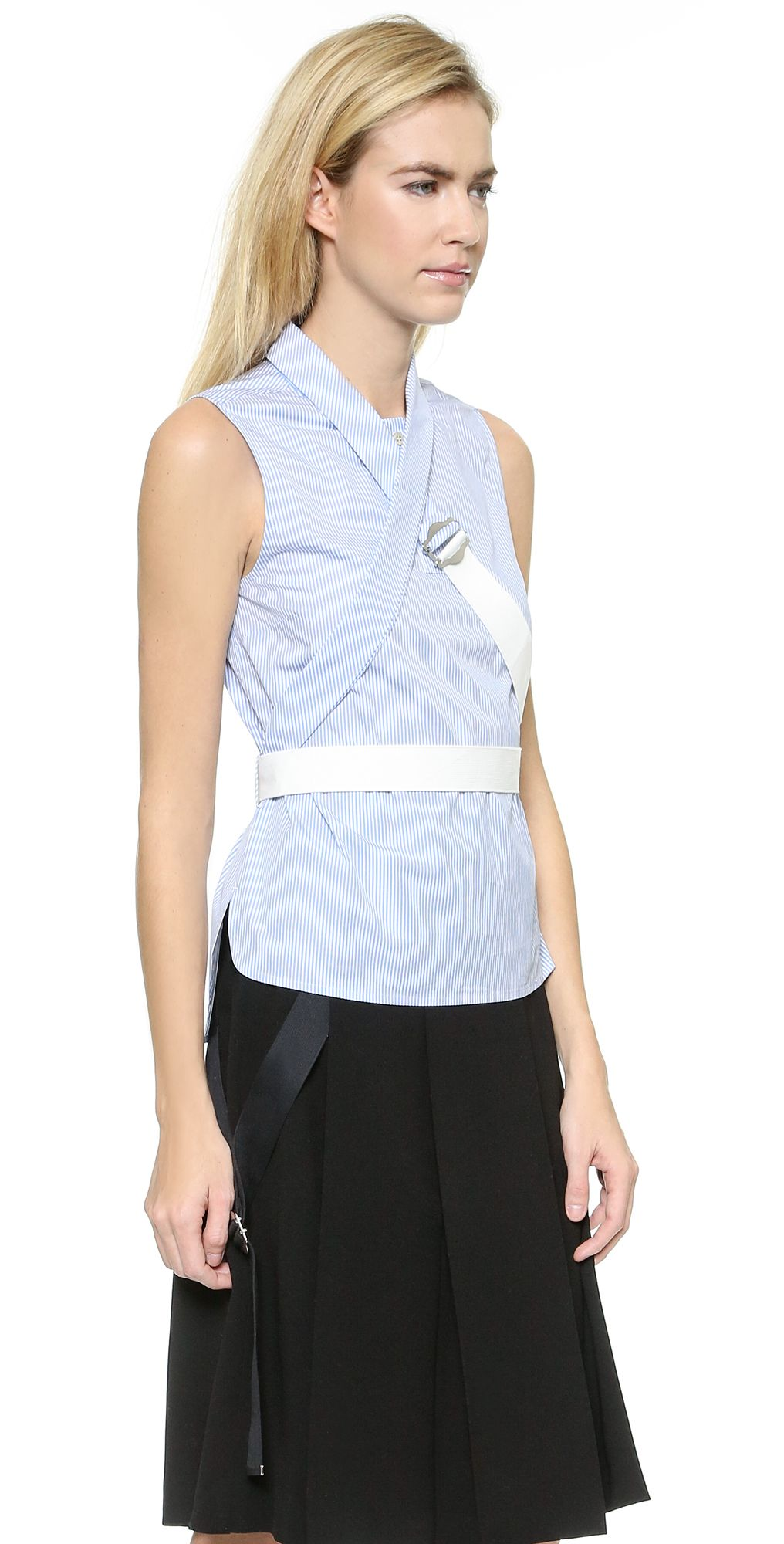 Marc by Marc Jacobs Candy Stripe Sleeveless Shirting | SHOPBOP