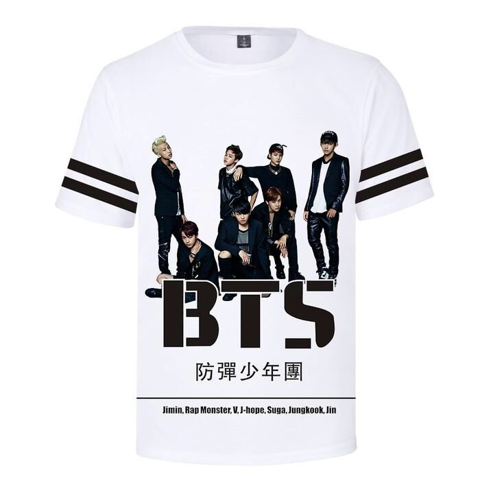 5a78abdea7da Alikpop 2019 New BTS Bangtan Boys Summer Cool T-shirt Short Sleeve 3D  Printed Casual