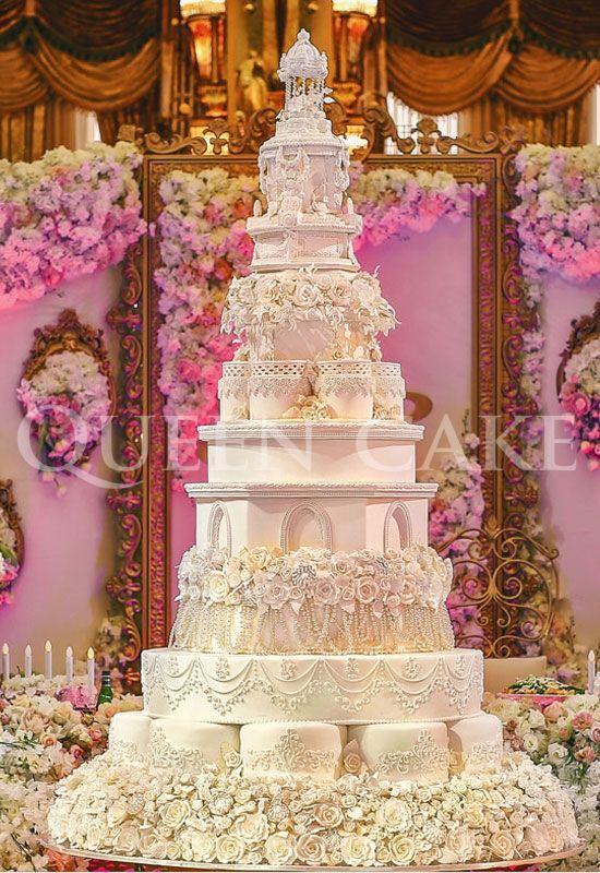 W30034 Huge wedding cakes, Luxury wedding cake, Big