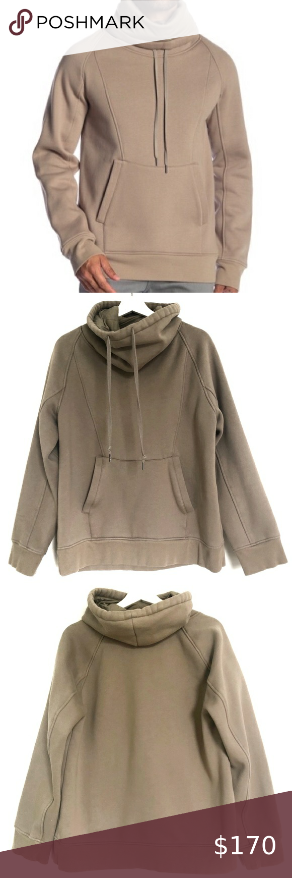Helmut Lang Men S L Cowl Neck Hooded Sweatshirt Clothes Design Fashion Fashion Tips [ 1740 x 580 Pixel ]
