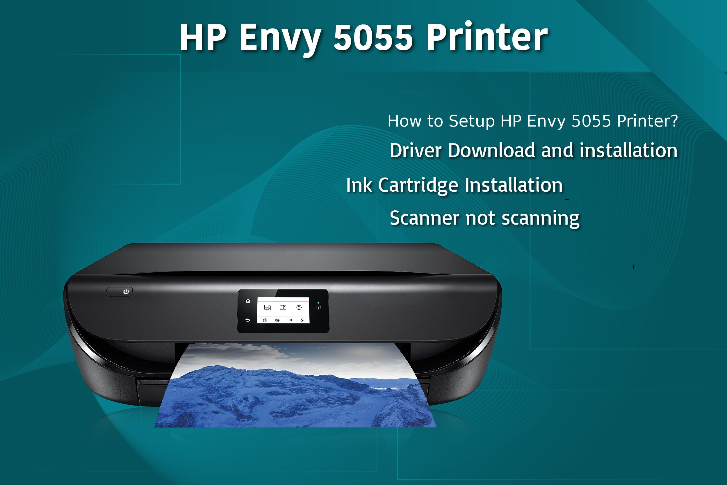 How to Setup Hp envy 5055 Printer & Driver Installation Guidance