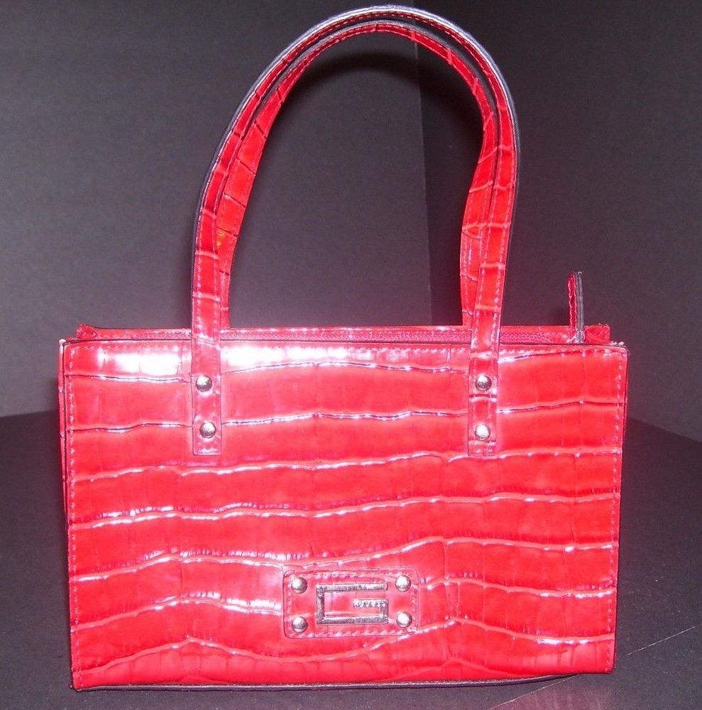 Guess Red Faux Croc Women S Small Handbag Purse