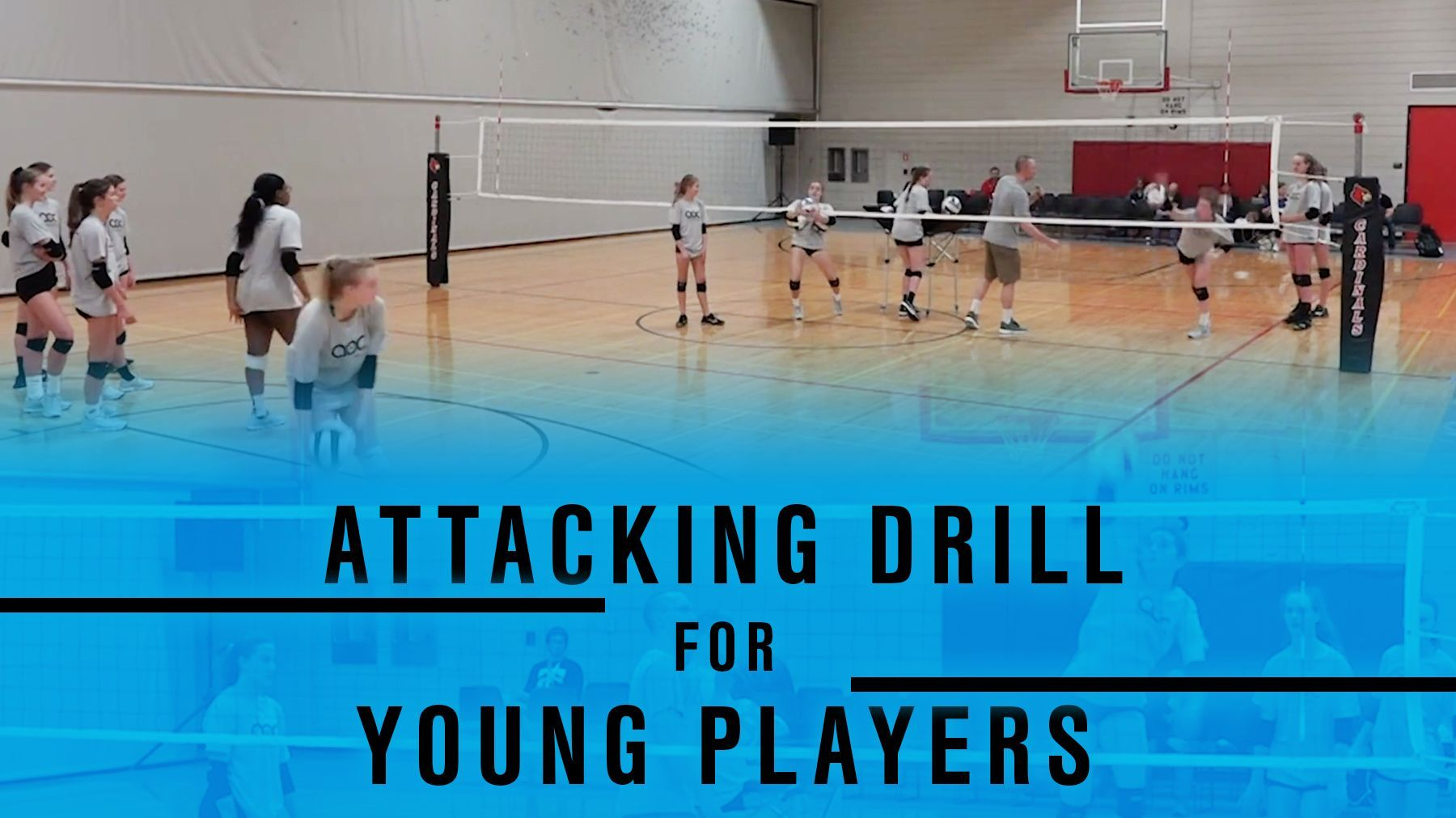 Attacking Drill For Young Players The Art Of Coaching Volleyball Volleyball Training Coaching Volleyball Volleyball Drills