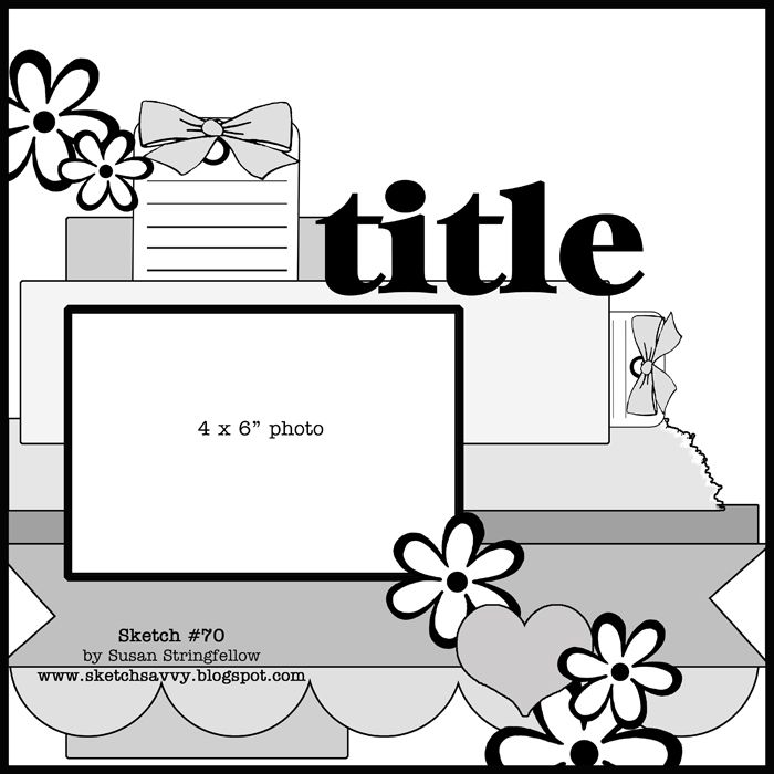 12x12 Scrapbook Layout Sketches Sketch 70 12x12 Scrapbook Pages