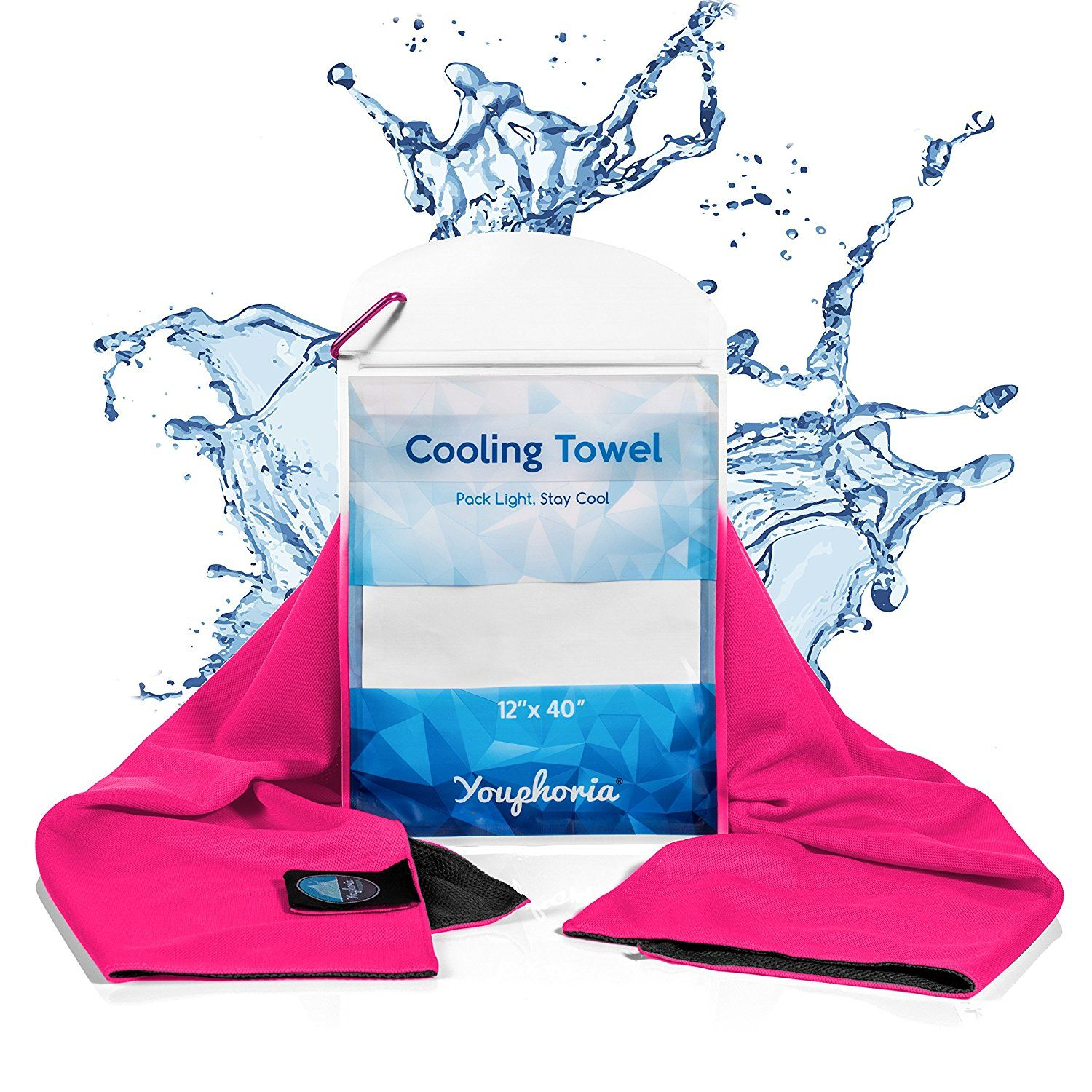 Youphoria Mesh Cooling Towel Stays Cool Longer Won T Leave You Wet Compact Waterproof Carry Case Included