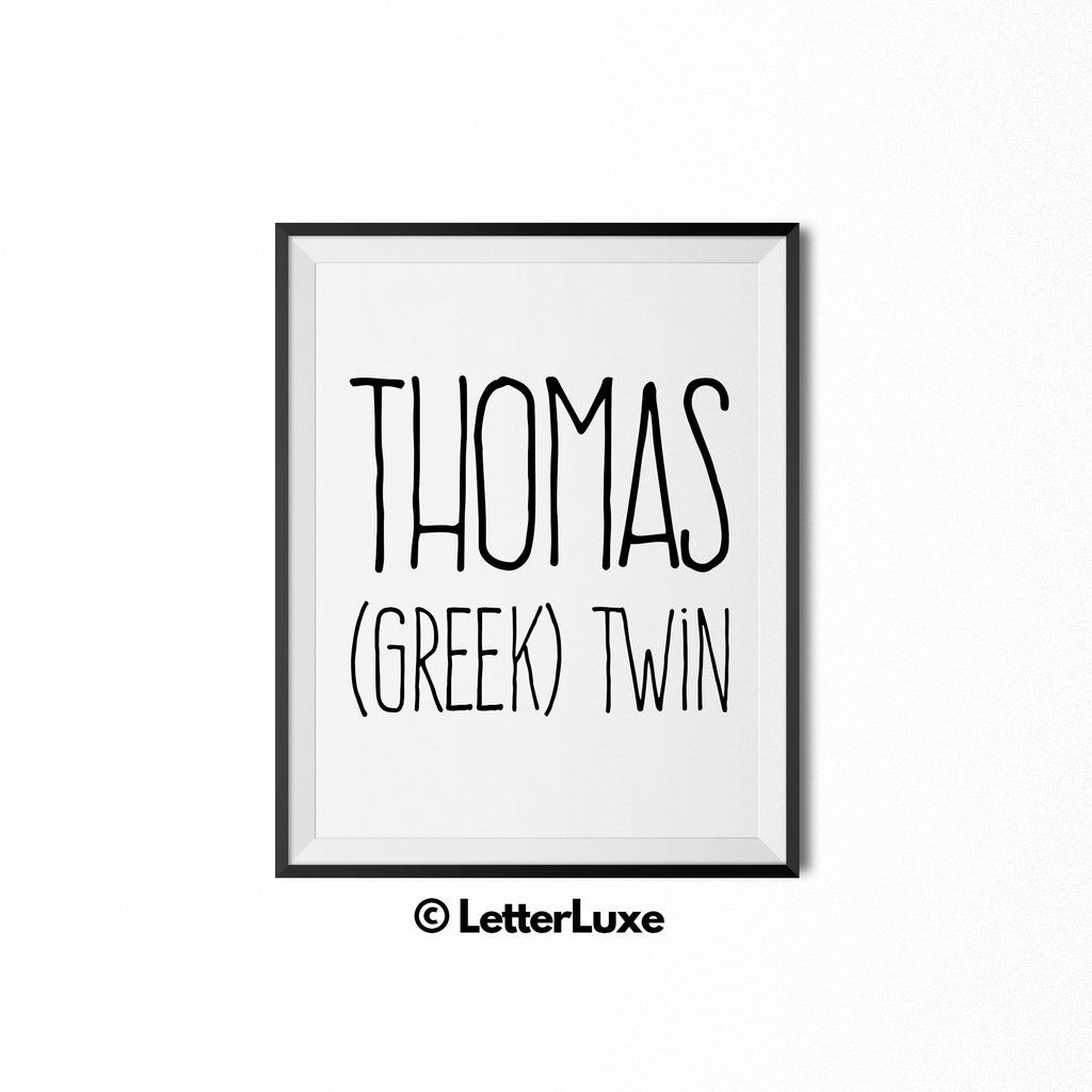 Thomas Name Meaning - Instant Download - Birthday Gift for ...