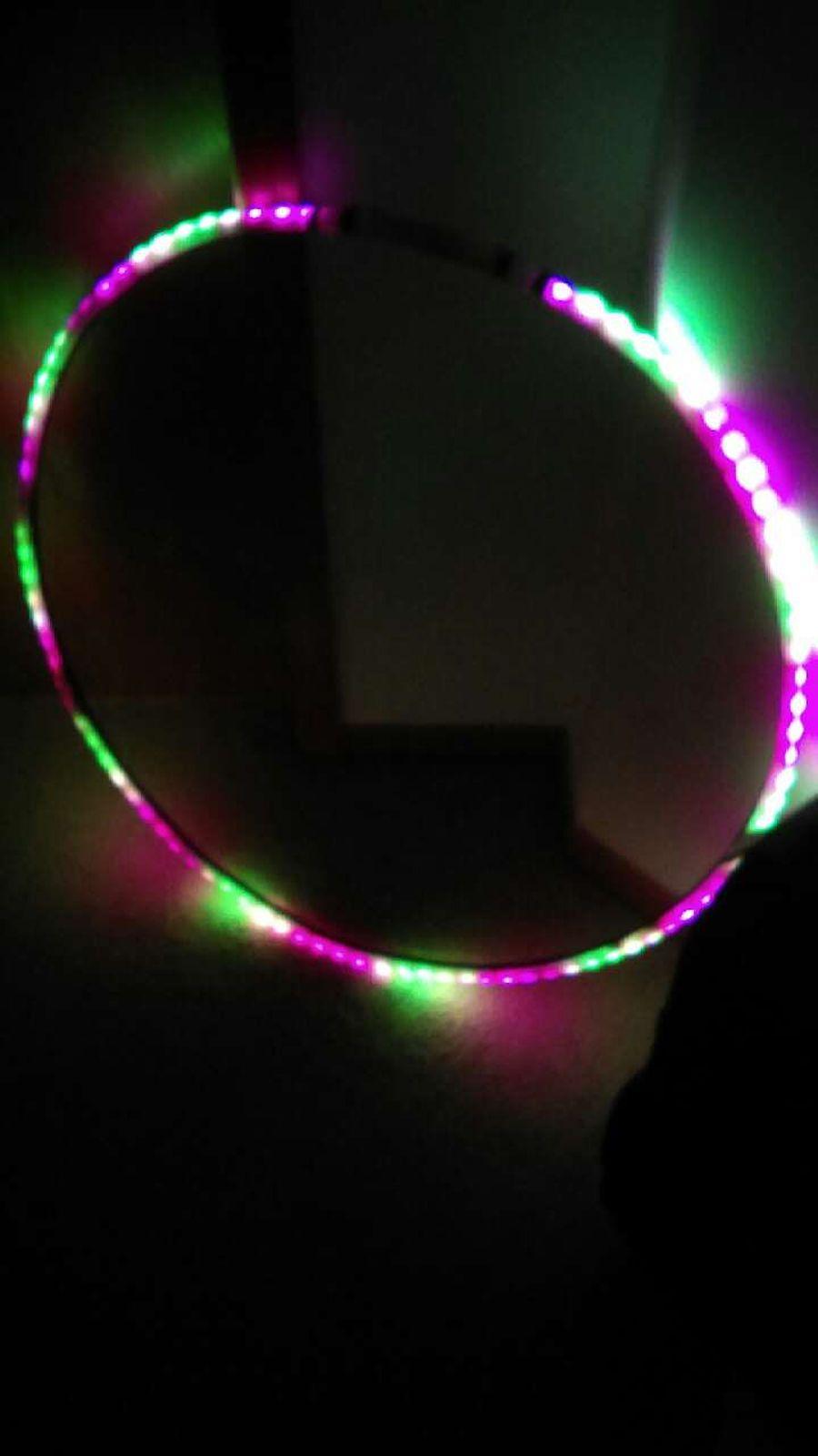 Rainbow Shuffle LED Hula Hoop