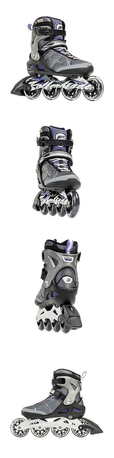 Women 16259: Rollerblade Macroblade 84W Alu 2016 Fitness Workout Skate Black Purple 9 Us -> BUY IT NOW ONLY: $232.12 on eBay!