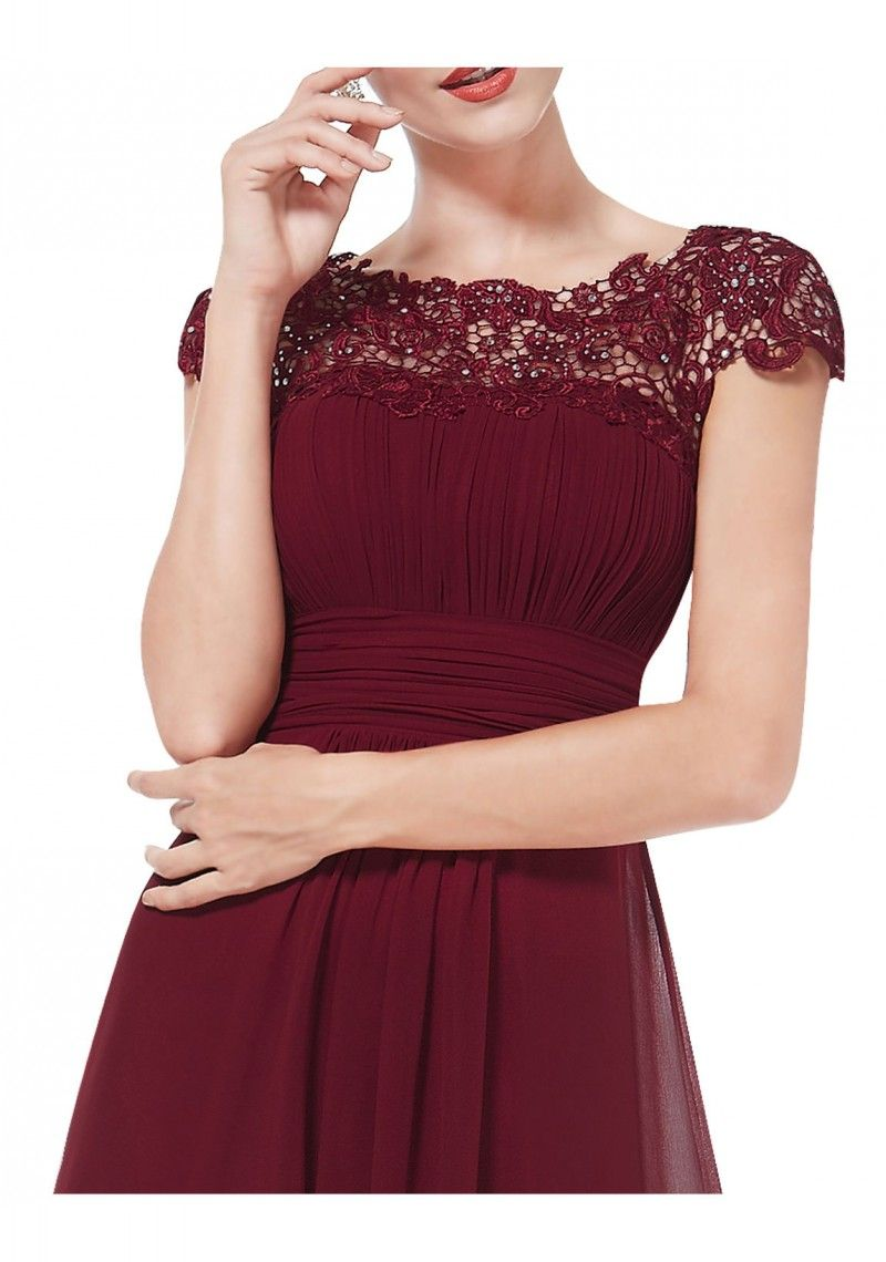 Langes kleid bordeaux