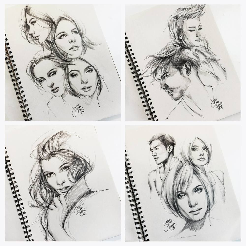 Pencil sketch of portraits by jason siew illustrious world illustriousio